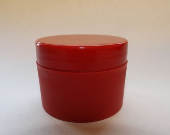 50ml Red Plastic Jars with matching lids - For lotions, creams, body butters, and more