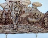 Elk Welcome Sign ~ Rustic Cabin Decor Elk ~ Wood Elk Wall Decor ~ Elk Wood Carvings ~ Elk Cabin Decor ~ Rustic Elk ~ Log Cabin Art ~ SALE