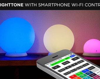 "Brighttone Smart Audio Processing RGB LED Lamp with iPhone and Android Applications control 10"" WiFi - one or many in the set"