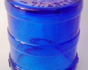 Vintage Cobalt Blue Glass Medicine Bottle Dose Cup John Wyeth