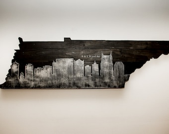 Nashville Wall Art nashville skyline wood cut out wall art tennessee wall art