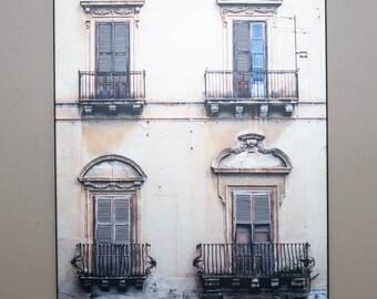 Italian Doors in Sicily on a Plaquemount