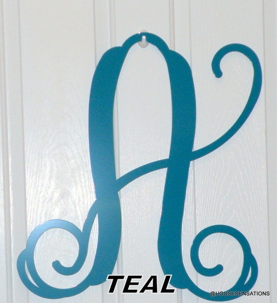 Unavailable listing on etsy for Large metal monogram letters