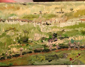 "Original Oil Painting - ""Austin Ranch"""