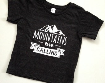 The Mountains Are Calling-Baby and Toddler Tees or ONEsies