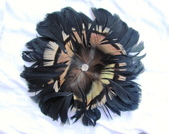Black Feather Hair Clip