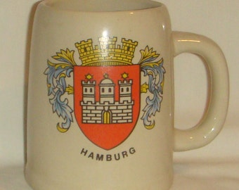 German Beer Stein Hamburg Heavy Ceramic inv1604