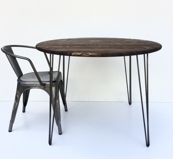 36 hairpin kitchen table industrial table by