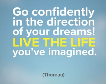Go confidently in the direction of your dreams!... - Colored magnet