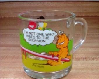 Vintage 1980 McDonald's Garfield Coffee Cup, Garfield & Odie, Garfield McDonalds Promotional Mug, Jim Davis, Vintage Garfield Mug