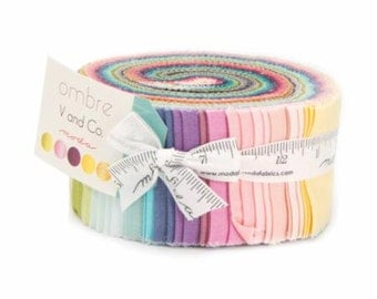 Ombre Jelly Roll by V and Co for Moda Fabrics