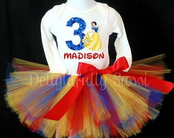 Snow White Birthday Tutu, Snow White Tutu, Princess Tutu, Tutu Outfit, Tutu