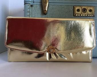 Vintage Mid Century Pegi Paris Purse Clutch Bag c. 1950s, New York, Houndstooth Clutch