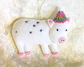 Party pig ornament