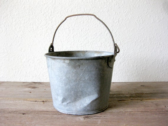 vintage galvanized bucket rustic bucket vintage metal