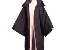 Kids Black Star Wars Robe Childrens Sith Cloak Boys Sizes