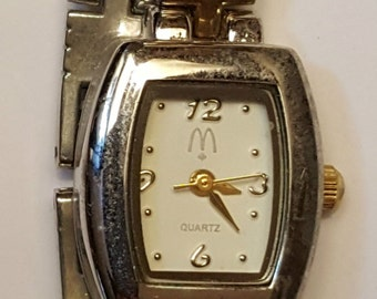 McDonald's Restaurant employee issued wrist watch wear unique fast food manager quartz worker fashion wear advertising jewelry accessory