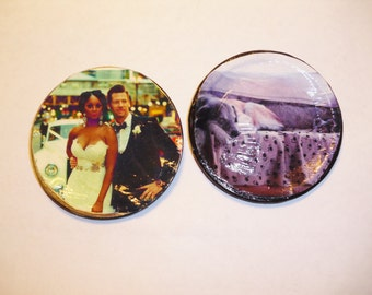 Personalized Picture Magnets on mason jar lids(unique magnet)any occasion, photos, keepsakes, memories(animals, family, etc.)Words added