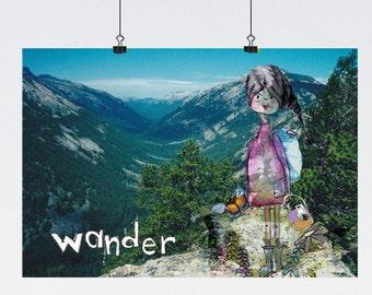 Wander Mountain Girl Poster-13x19 Poster