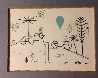Vintage KLEE print by Modern Classics!  RARE!  1940's