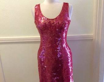 Vintage Red Sequins Dress