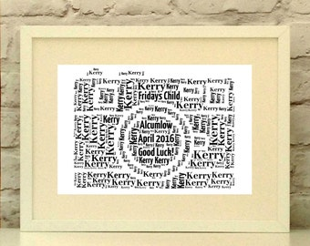 Camera Personalised Print - Photographer Gift