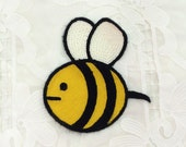 Cute bee embroidered patch vintage sew on patch cloth fabric decoration patch