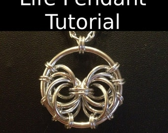 Life Pendant Tutorial - Chainmaille Tutorial - Intermediate Chainmaille Pendant Tutorial