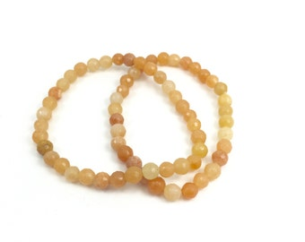 LAST CHANCE Orange Jade Bracelet; Bright Orange Bracelet; Bright Orange Gemstone Bracelet; Jade Bracelet