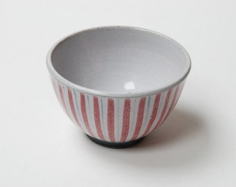 Mid-century Rye pottery striped bowl.