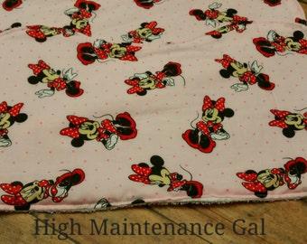 Burp Cloths, Minnie Mouse Theme burp rags, Babyshower gift