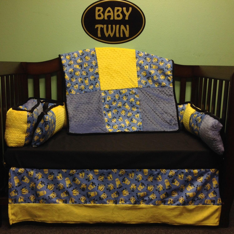 4pc standard crib bedding set minions