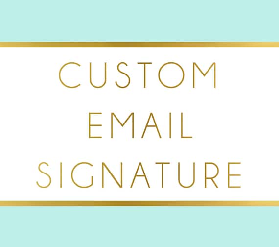 how to create custom signature in gmail