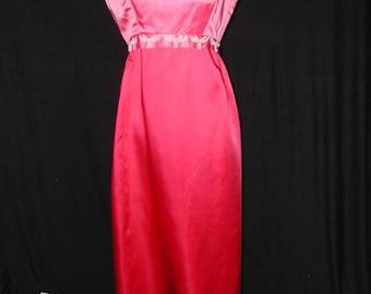 Two Tone Pink Satin Formal Dress M/L