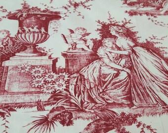 Romantic toile de Jouy fabric, 280 cm or 110 inches wide!!