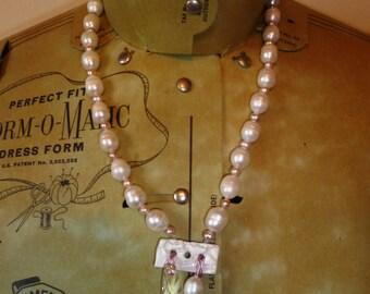 Statement freshwater pearl and Swarovski pendant