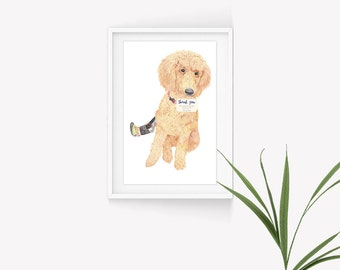 Custom Pet Portrait - Dog, Cat Paintings