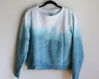 Ombre Dip-Dyed Sweatshirt
