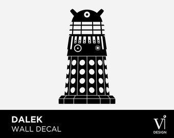 Dalek Doctor Who Wall Art / Vinyl / Graphic - Multiple Sizes & Colours