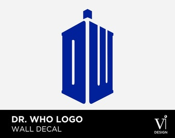 Doctor Who Logo - Decorative Wall Art - Vinyl Graphic - Multiple Sizes & Colours