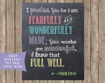Scripture Printable: Fearfully and Wonderfully Made