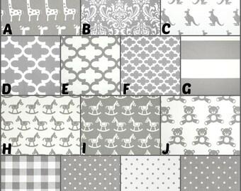 Custom Boutique Baby Bedding / Design Your Own / Crib Bumper / Crib Skirt / Crib Sheet / Premier Prints / Storm #2