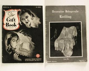1941 1944 Star Gift Book Decorative Bedspreads Knitting · Antique Vintage Crochet Home Decor Tatting