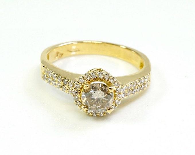 ON Sale!!! Diamond Ring 0.85 ct- Engagement ring - wedding band- promised ring - yellow gold 14k-Bridal Jeweler- Wedding & Engagement