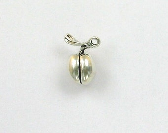 925 Sterling Silver Peach Charm, Fruits & Vegetables Theme - fhg02