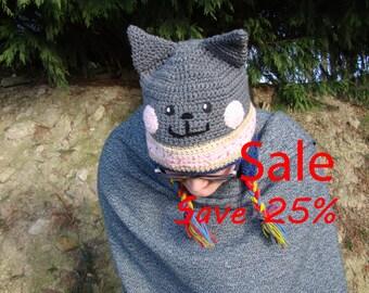 Adults Nyan Cat Poptart Cat Earflap hat