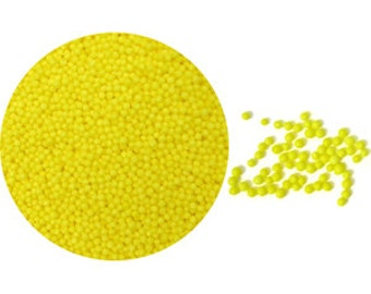 3.8oz Yellow Non Pareils sprinkles for cakes cupcakes cookies and pastries baking supplies