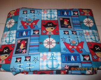 Everthing Pirates! Blanket with red minky!