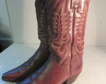 Womens Tan Leather Cowboy Boots Made By 'R. Soles' Designed By 'Judy Rothschild' Size 7 UK/40 Euro