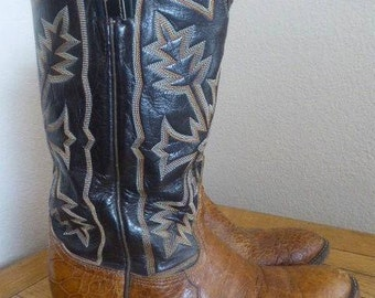 Vintage Womens Tony Lama Cowboy Boots MADE In USA - UK Size 6
